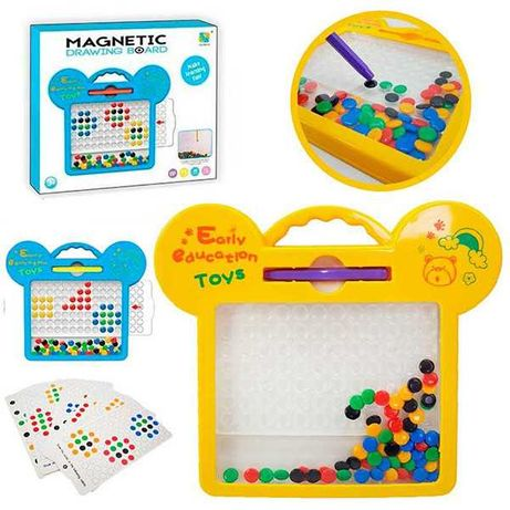 Магнитная мозаика пуговки, магнитный планшет Magnetic drawing board