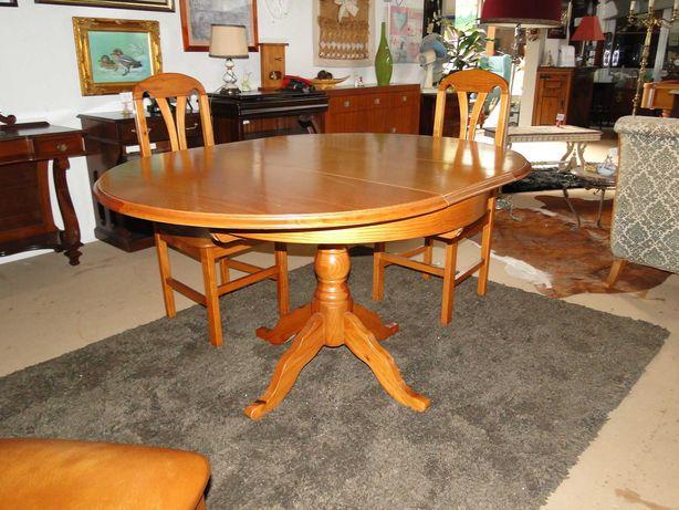 Mesa redonda extensível - óptimo estado - Só a mesa as cadeiras são