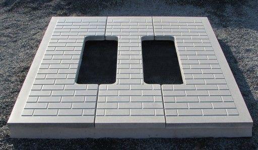 Антиосадочні плити для установки памятників