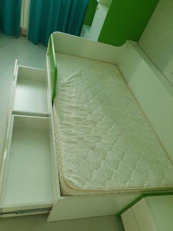 Кровать детская белая спальное место 170:90