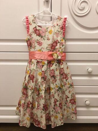 Продам новое нарядное платье для девочки, размер 2-3 года