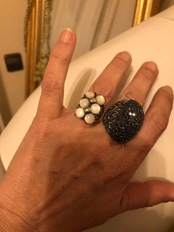 Anel em prata de lei e pedra da lua. Tam 1,8 cm