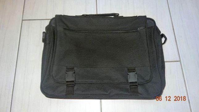 Jak NOWA czarna torba na laptopa 40x30 cm