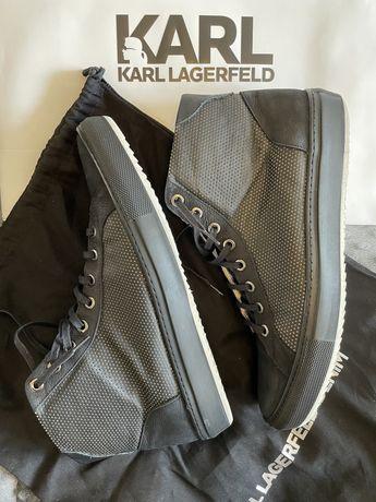 Lagerfeld мужские черные хайтопы, высокие кеды, ботинки (Bogner, Zilli