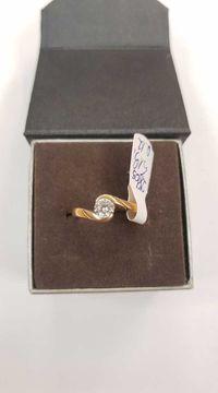 Złoty pierścionek-2,86g , rozmiar 12 , próba 585-14K ! Lombard Dębica