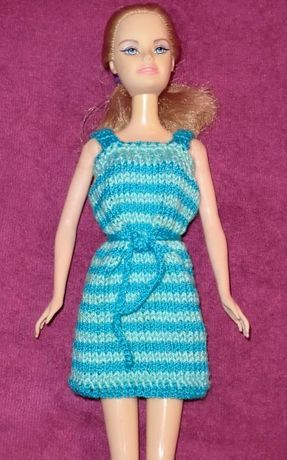 Одежда для куклы Барби.Платье