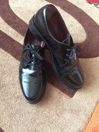 Туфли кожаные женские. Лоферы .Оксфорды. Ботинки женские.  36(23,5 см)