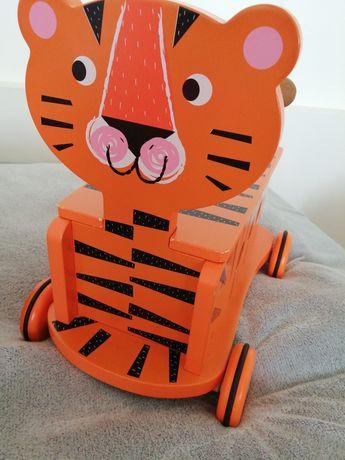 Jeździk carousel tygrys drewniany