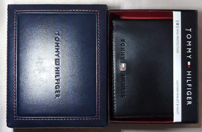 TOMMY HILFIGER Meski Portfel RFID Czarny Skorzany + Pudelko Prezentowe