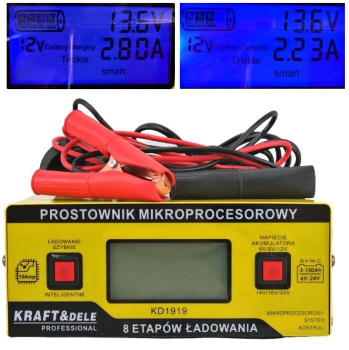 Prostownik do ładowania akumulatora 6V 12V 24V 10 Olkusz - image 1