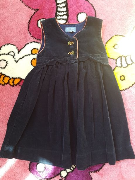 Śliczna sukienka granatowa sztruksowa rozmiar 98/104