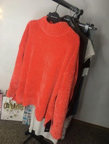 Плюшевый коралловый свитерок от F&F