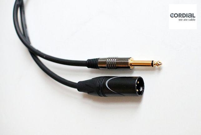 Kabel Mikrofonowy 4m CMK222 XLR męski - JACK Trójmiasto Jakość Pro!