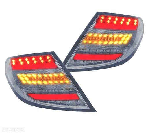 FAROLINS TRASEIROS MERCEDES CLASSE C W204 07-11 LIGHT BAR DESIGN VERMELHO/CROMADO