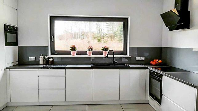 lacobel, panele szklane, szkło do kuchni, szkło z grafika