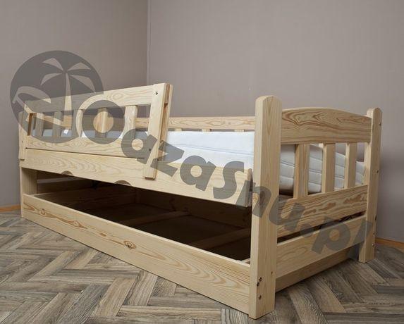 łóżko otwierane na bok z pojemnikiem sosnowe BINGO 90x180