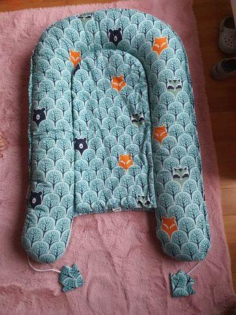Kokon niemowlęcy dwustronny jukki miętowy z wkładką