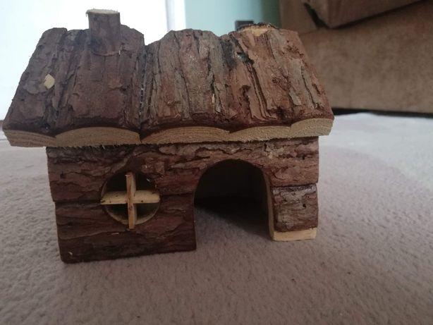 Drewniany domek - chomik dżungarski