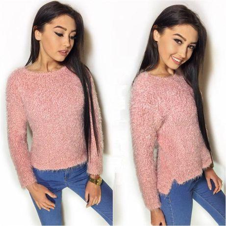 Теплый мягкий свитер травка, кофта Next розовый