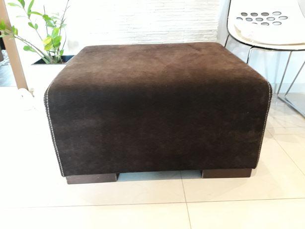 Rezerwacja/Pufa ,puf duża  kolor ciemny brąz 80x70x41cm.