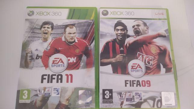 FIFA 09 i FIFA 11 gry na Xbox 360