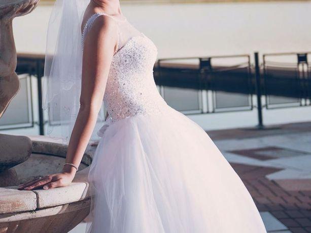 Suknia ślubna -wyłącznie Real Foto! SWAROVSKI!