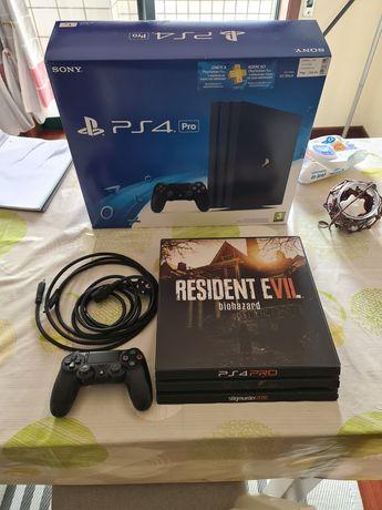 PlayStation 4 PS4 PRO 1TB completa, caixa e acessórios