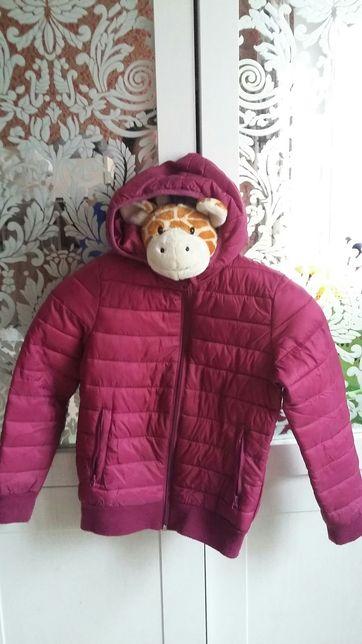 Куртка сиреневая Alive на 5-6 лет, весна, стеганная