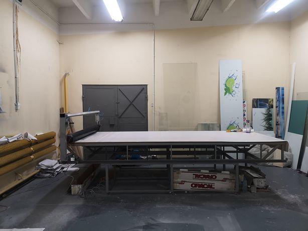 Okazja! Laminator stołowy, Laminowanie płyt płaskich PCV, szkła. Duży