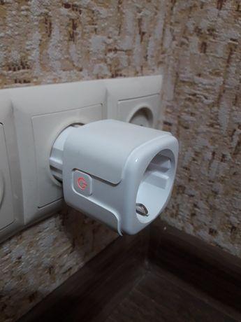 Умная розетка 16A (вайфай дом). Wi-fi smart plug. Счетчик, мониторинг.