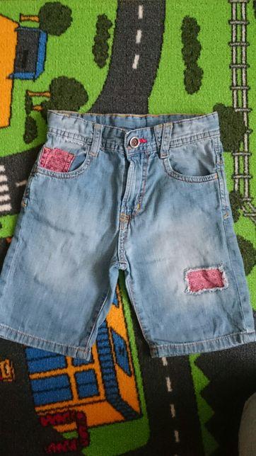 Spodnie, spodenki krótkie dżinsowe chłopięce, ZARA, r. 104