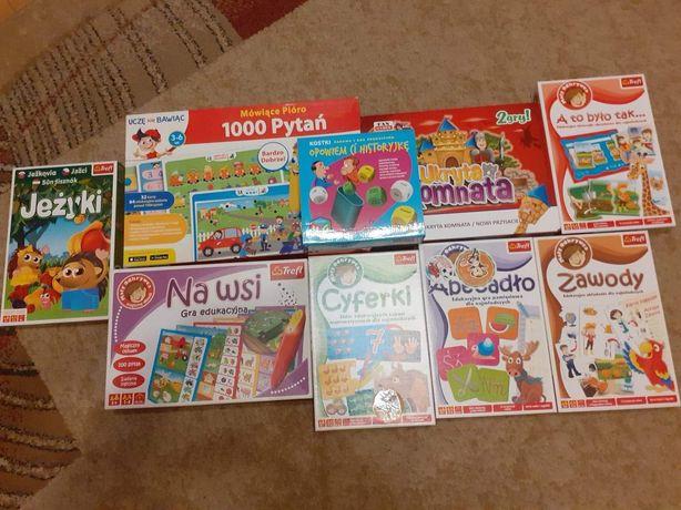 Gry edukacyjne,planszowe dla dzieci w różnym wieku