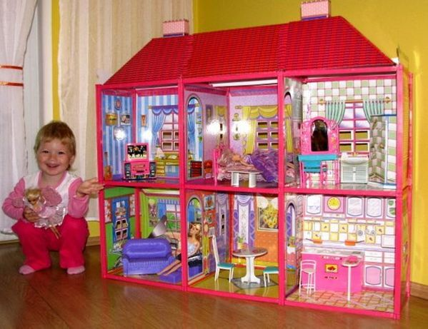Dom dla Lalek Domek Lalka Barbie Kuchnia Sklep Pokój Stół Meble Dzieci