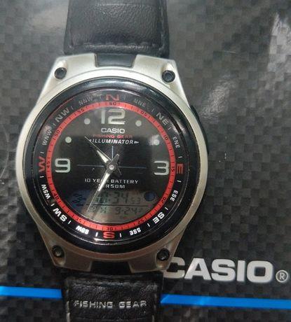 Casio illuminator fishing gear, 10 лет батарея, клёв, фазы Луны и др.