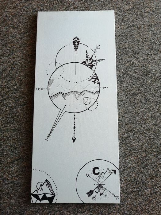 Grafika na płótnie handmade Jastrzębie-Zdrój - image 1
