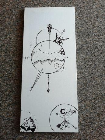 Grafika na płótnie handmade