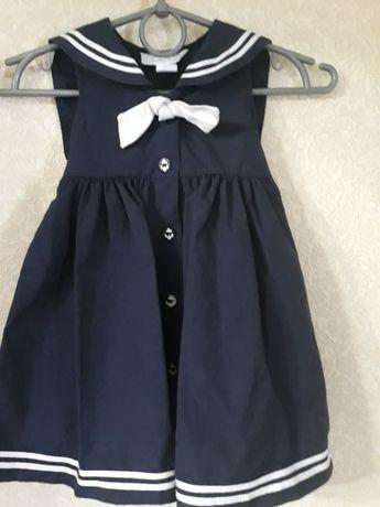 Нарядное платье Морячка на девочку