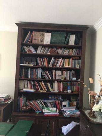 Estante de livros em madeira de castanho maciça - baixa de preço