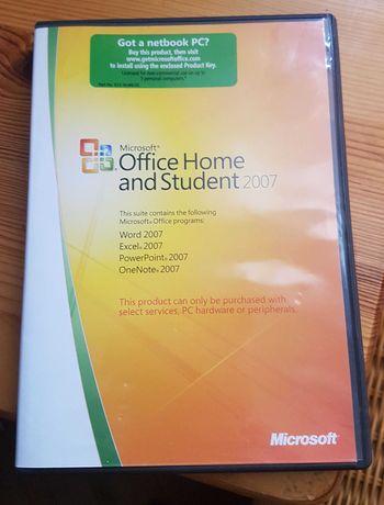 Microsoft Office 2007 domowy licencja na 3 komputery Home and Student.