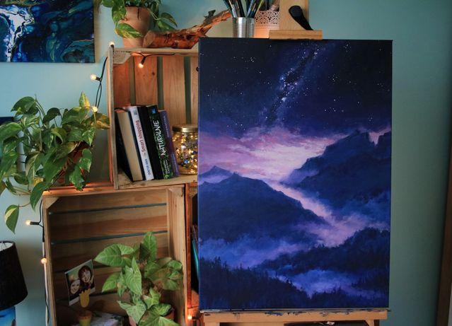 Droga mleczna, obraz 50x70cm, Milky Way
