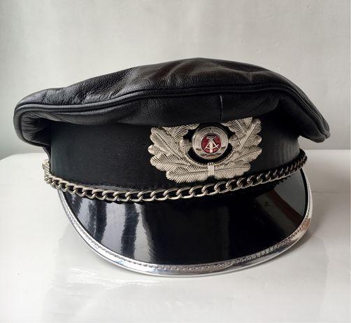 Chapeu Militar / Policia Biker hat em Pele