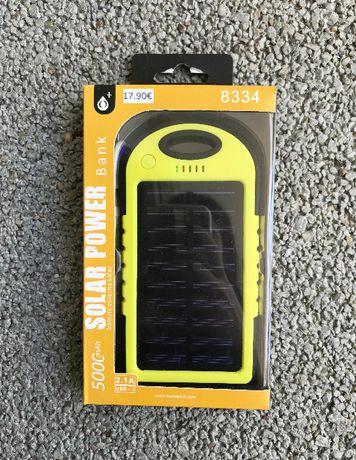 PowerBank Solar com Lanterna/Luz LED e 2 saídas USB - 5000mAh - NOVO