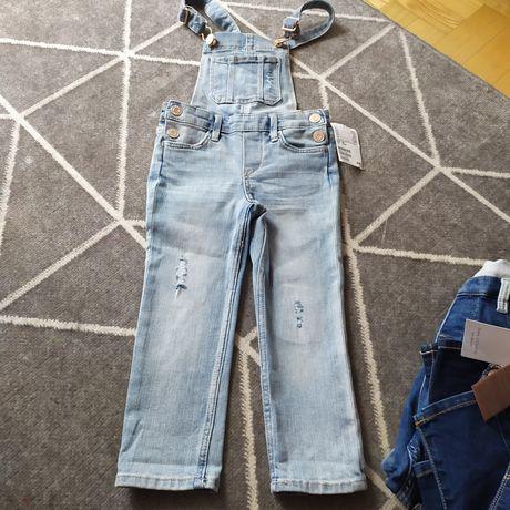 Nowe spodnie ogrodniczki H&m r.98