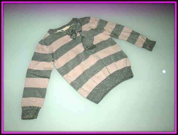 Sweterek dla dziewczynki Z KOKARDKĄ H&M 92 1,5-2 LATKA