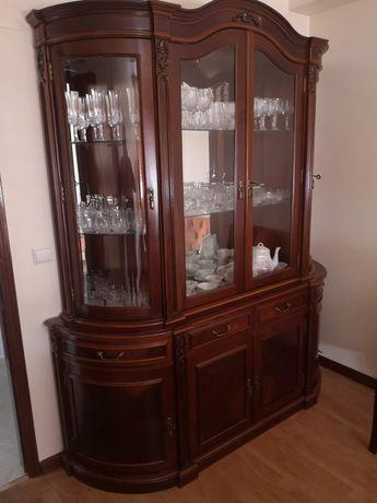 Louceiro/cristaleira madeira maciça