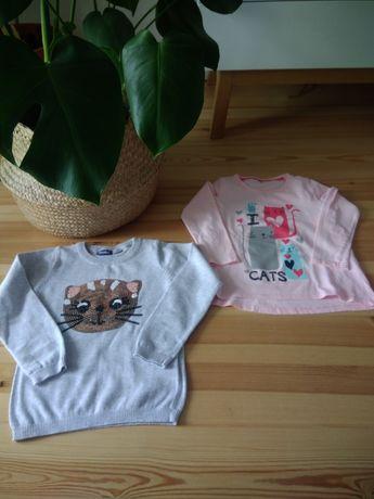 Sweterek i bluzeczka kot kotek 116 dziewczynka