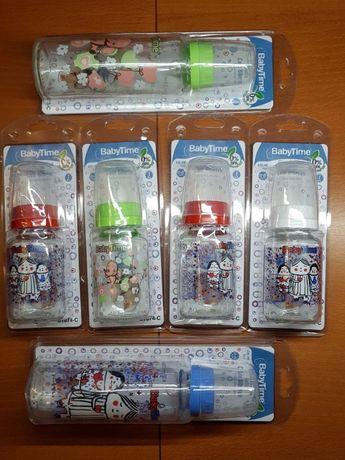 Nowe butelki szklane z wzorami