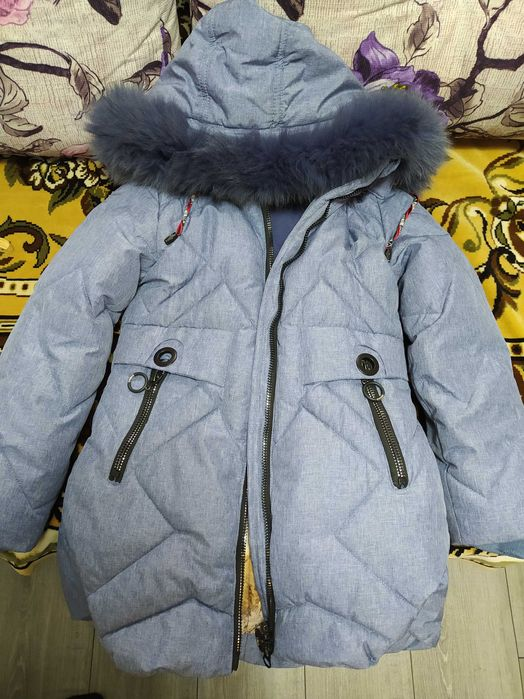 Зимняя куртка детская 128 см Раздельная - изображение 1