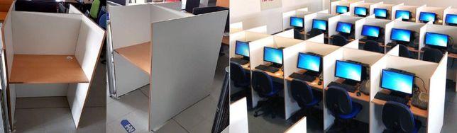 Ilhas de call center e Separadores / divisórias de secretárias / mesas