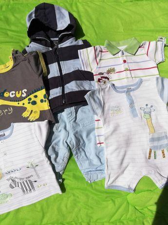 Body, rampery, spodenki, czapeczki, od 0-6 miesięcy